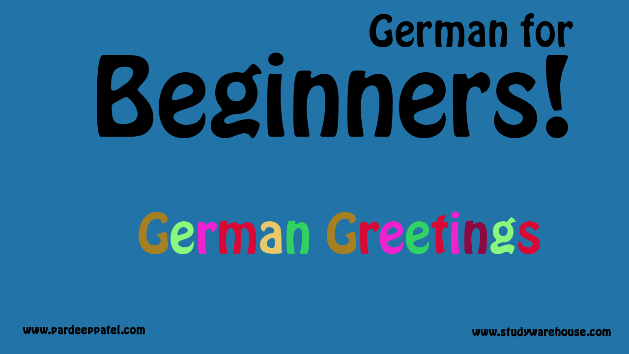 German Greetings A1 German For Beginners Study Warehouse